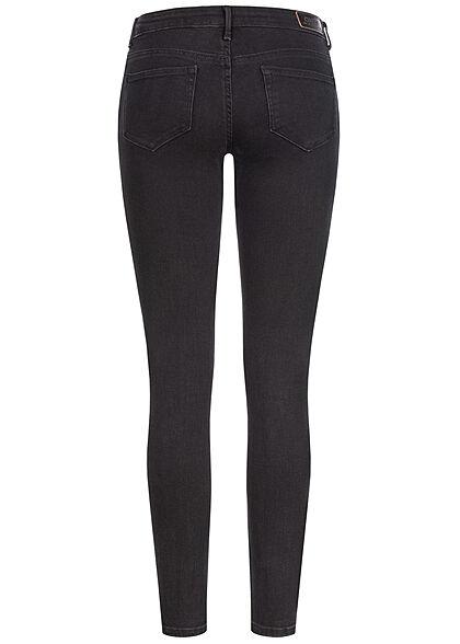ONLY Damen NOOS Skinny Jeans Hose Super Low Waist 5-Pockets schwarz denim