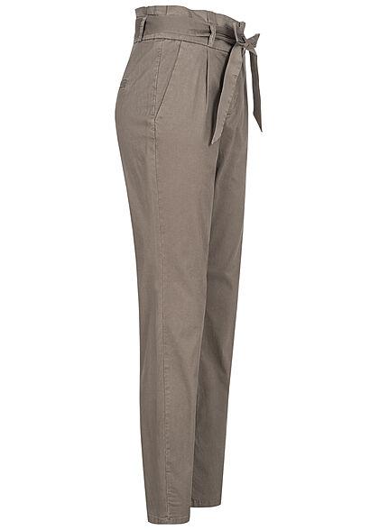 Vero Moda NOOS Damen High-Waist Paperbag Stoffhose 4-Pockets bungee cord braun