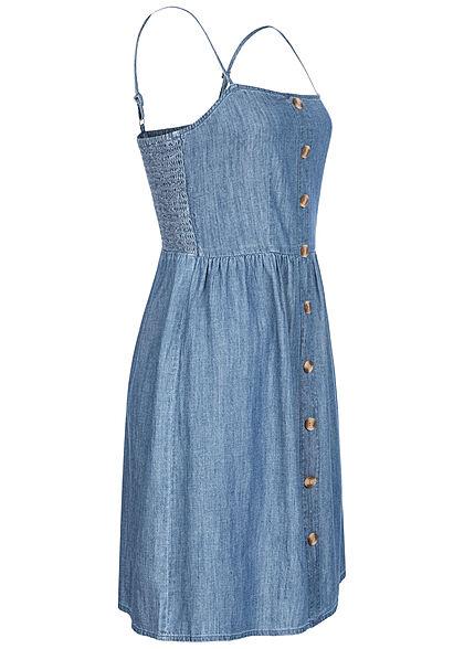 ONLY Damen Denim Mini Trägerkleid Deko Knopfleiste medium blau denim