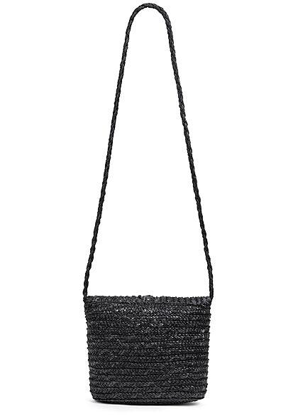 Hailys Damen Mini Papier Handtasche 1-Pocket 20x20cm schwarz