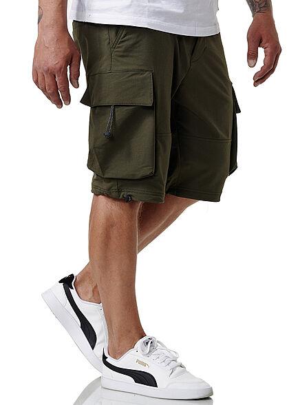 Sublevel Herren Cargo Bermuda Shorts 2-Pockets khaki grün