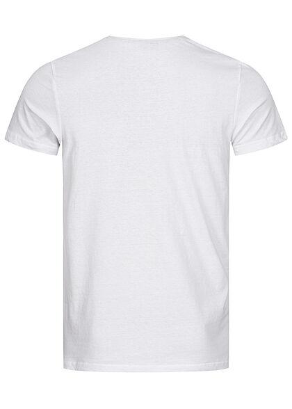 Sublevel Herren T-Shirt New York City Print weiss