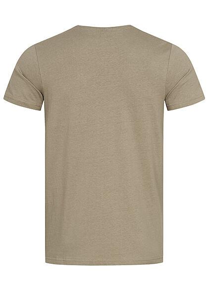 Sublevel Herren T-Shirt New York City Print sage grün
