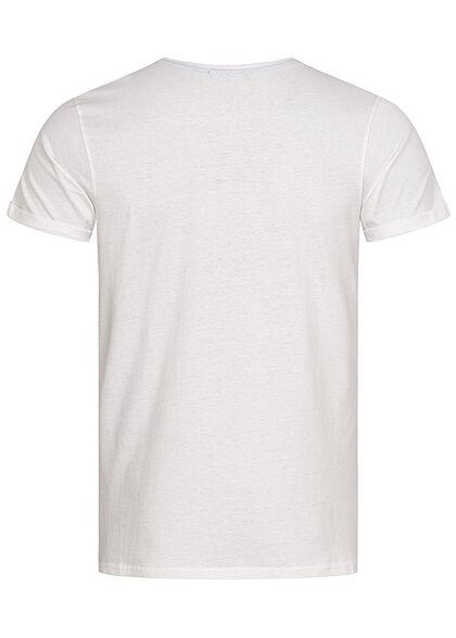 Sublevel Herren T-Shirt Easy Mind Print weiss