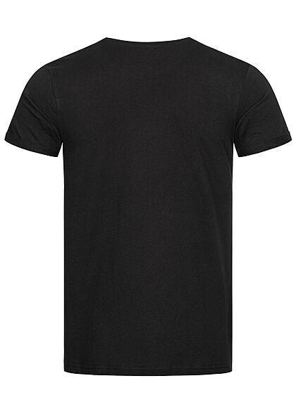Sublevel Herren T-Shirt Easy Mind Print schwarz