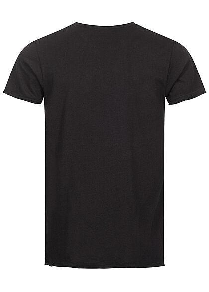 Eight2Nine Herren T-Shirt Logo Print schwarz