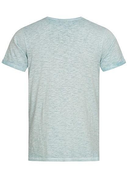 Eight2Nine Herren T-Shirt Mini Logo Print starlight blau