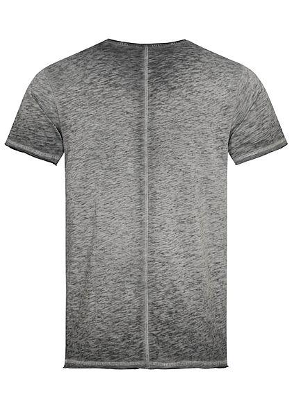 Eight2Nine Herren T-Shirt Brusttasche ash grau