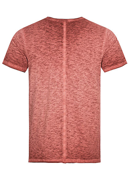 Eight2Nine Herren T-Shirt Brusttasche dried tomato rot