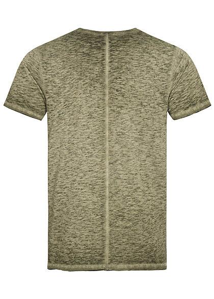 Eight2Nine Herren T-Shirt Brusttasche ivy oliv grün