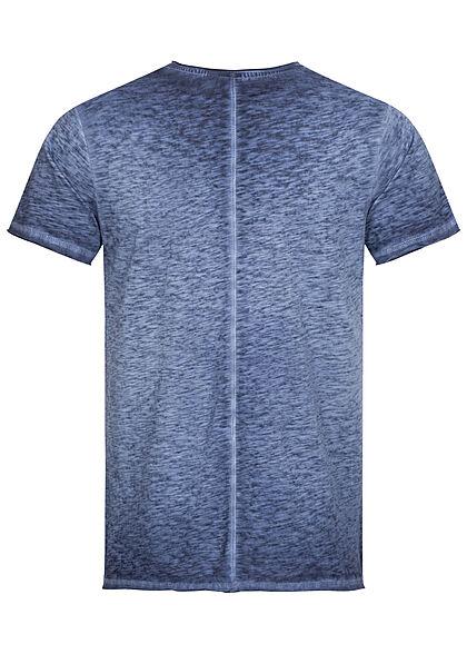 Eight2Nine Herren T-Shirt Brusttasche navy dunkel blau