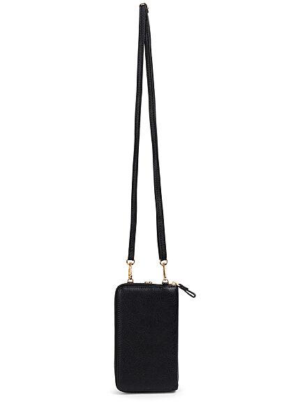 Hailys Damen Mini Kunstleder Umhängetasche Clutch ca. 10x17cm schwarz