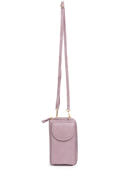 Hailys Damen Mini Kunstleder Umhängetasche Clutch ca. 10x17cm lavender lila