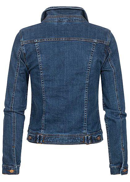 VILA Damen NOOS kurze Jeans Jacke 2 Brusttaschen medium blau denim