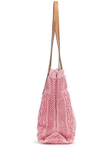 Styleboom Fashion Damen Struktur Handtasche ca. 24x35cm pink