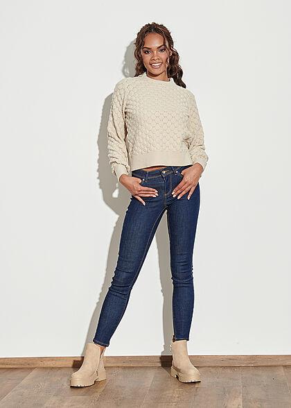 ONLY Damen NOOS Skinny Jeans 5-Pockets Regular Waist dunkel blau denim