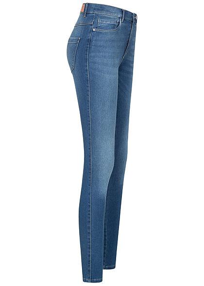 ONLY Damen NOOS High-Waist Skinny Jeans 5-Pockets hell medium blau denim