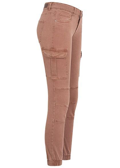 ONLY Damen NOOS Ankle Cargo Jeans 6-Pockets Regular Waist clove braun