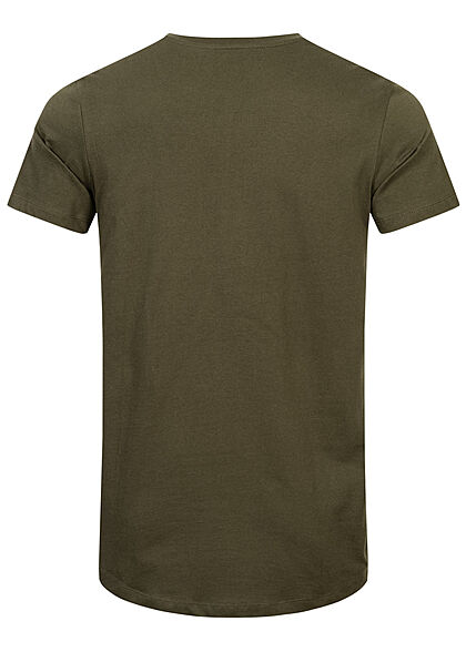 Jack and Jones Herren NOOS Basic T-Shirt forest night oliv grün