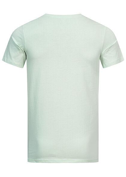 Jack and Jones Herren NOOS T-Shirt Logo Print bleached aqua türkis