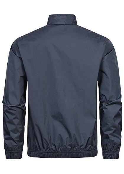 Jack and Jones Herren leichte Jacke 2-Pockets Kontrast Streifen navy blazer blau