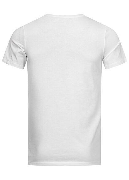 Jack and Jones Herren NOOS T-Shirt Logo Print cloud dancer weiss