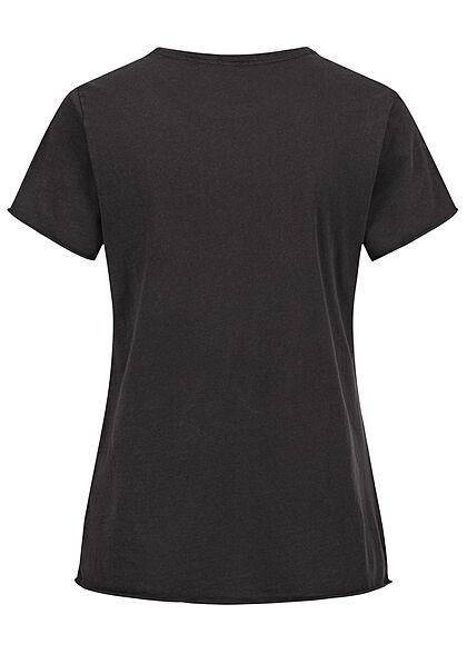 ONLY Damen T-Shirt Changing World Print schwarz