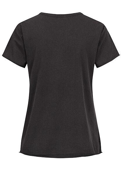 ONLY Damen T-Shirt Luminous Unstoppable Print schwarz