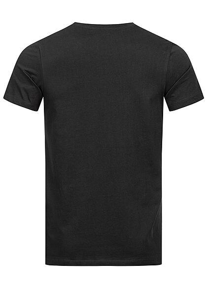 Jack and Jones Herren NOOS T-Shirt Logo Print schwarz rot