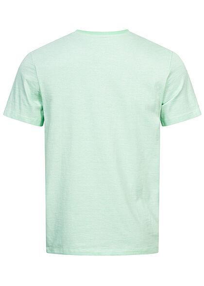 Tom Tailor Herren T-Shirt Dry Goods Logo Print lucite grün