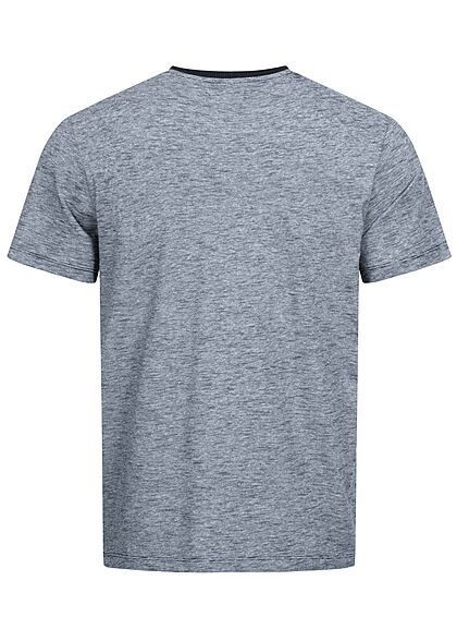 Tom Tailor Herren T-Shirt Dry Goods Logo Print Streifen dunkel blau