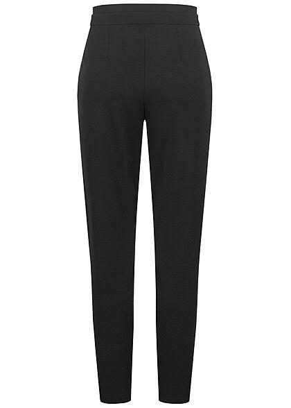JDY by ONLY Damen NOOS High-Waist Stoffhose inkl. Bindegürtel 2-Pockets schwarz