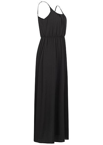 Vero Moda Damen NOOS Maxi Kleid Taillengummibund schwarz