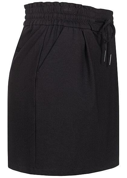 Vero Moda Damen Mini Rock Tunnelzug 2-Pockets schwarz