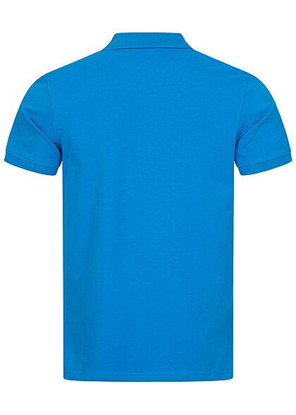 Tom Tailor Herren Polo T-Shirt Logo Stickerei bright ibiza blau