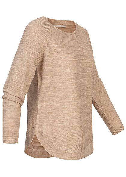 ONLY Damen NOOS Struktur Pullover humus beige
