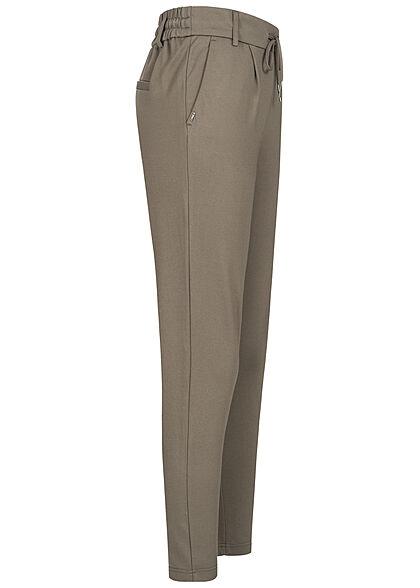 ONLY Damen NOOS Poptrash Stoffhose 2-Pockets bungee cord grau