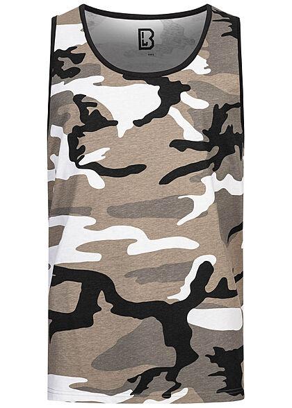 Brandit Herren Basic Tank Top urban camouflage grau weiss schwarz
