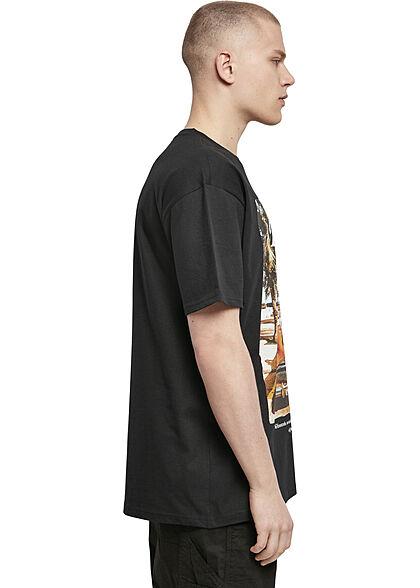 Mister Tee Herren Oversized T-Shirt Havana Print schwarz