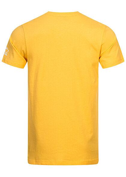 Starter Herren T-Shirt Logo Print gelb weiss