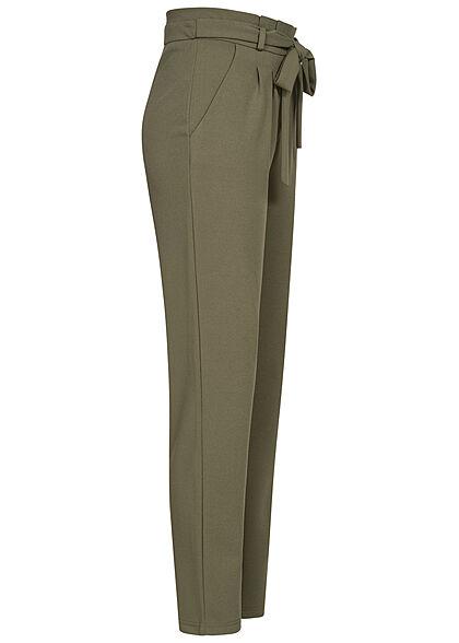 JDY by ONLY Damen NOOS High-Waist Stoffhose inkl. Bindegürtel 2-Pockets kalamata