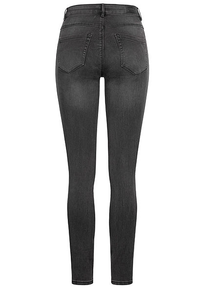 ONLY Damen NOOS High-Waist Skinny Stretch Jeans Hose 5-Pockets schwarz denim