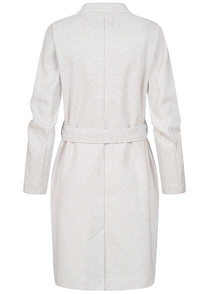 ONLY Damen Wickelcoatigan Jacke mit Bindegürtel 2-Pocket Style pumice stone beige