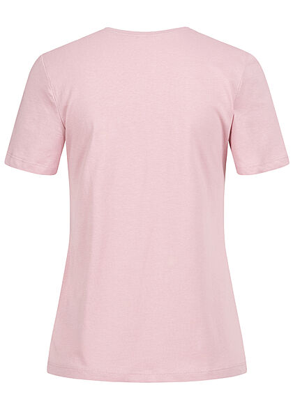 ONLY Damen T-Shirt mit Trust Print & Pailletten dawn pink