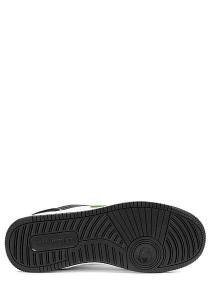 Champion Herren Schuh Low Cut Colorblock Sneakers zum schnüren schwarz grün weiss