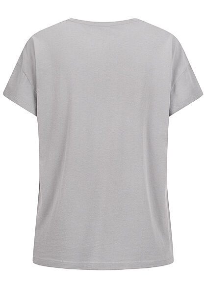 ONLY Damen T-Shirt Tupac Print hell grau