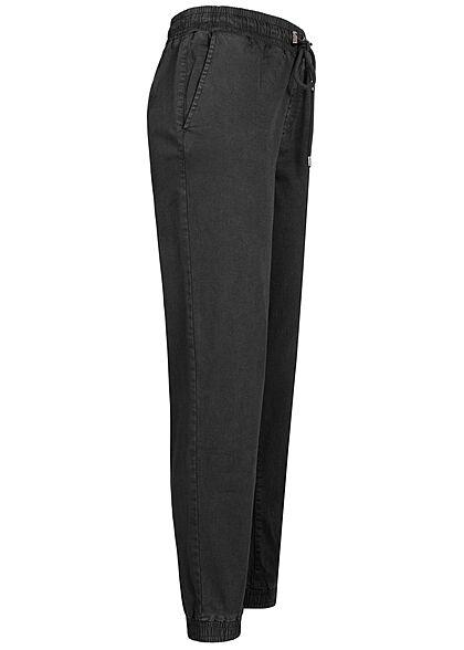 ONLY Damen Sweatpants Stoffhose Tunnelzug Gummibund am Saum schwarz