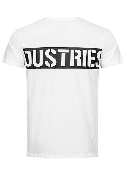 Alpha Industries Herren T-Shirt mit Logo Stripe Print weiss schwarz
