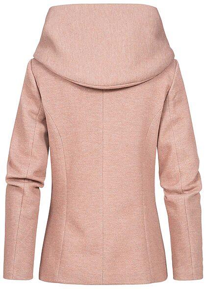 ONLY Damen leichte Übergangs Jacke mit drappierter Kapuze mocha mousse rosa