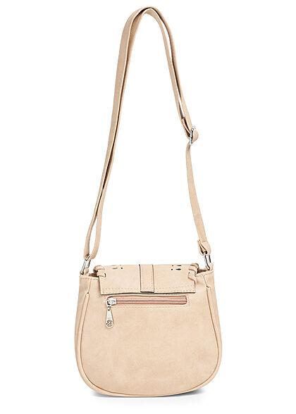 Styleboom Fashion Damen Mini Kunstleder Handtasche ca. 20x23cm beige